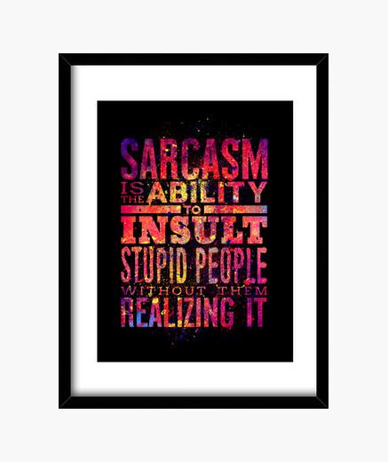 Cadre sarcasme