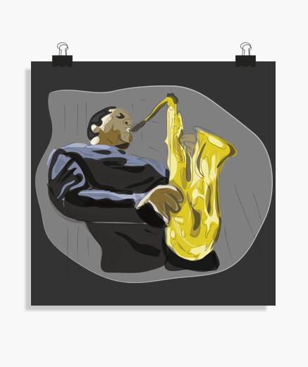 Poster sassofono
