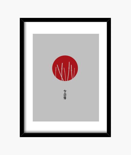 Cadre sept samouraïs