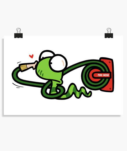 Poster serpente e tubo flessibile