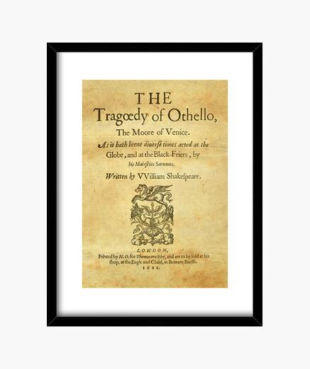 Cuadro Shakespeare, Othello 1622 (prints)