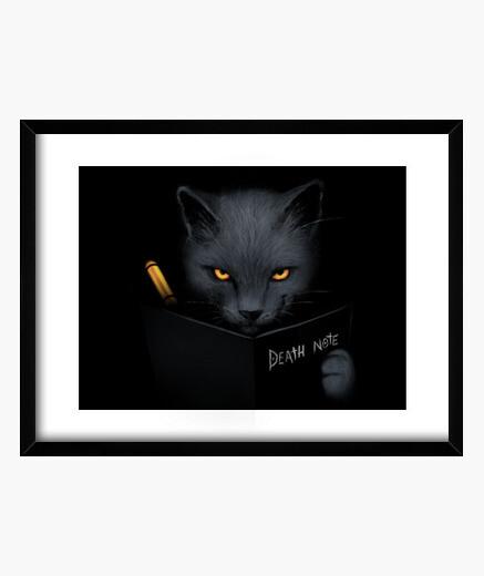 Cuadro Shinigami cat print