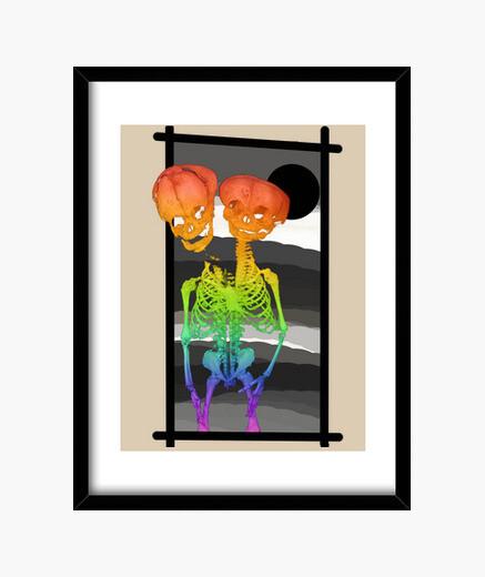 Cuadro siameses skull