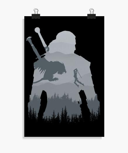Poster silhouette sauvage
