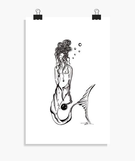 Póster sirena - cartel