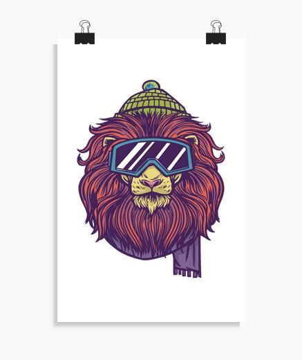 Poster ski lion