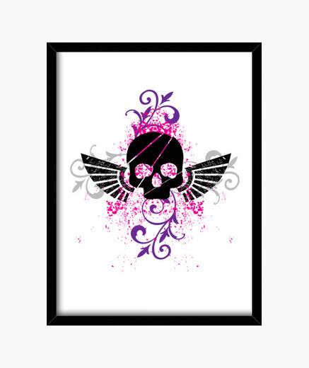 Skull and Wings framed print