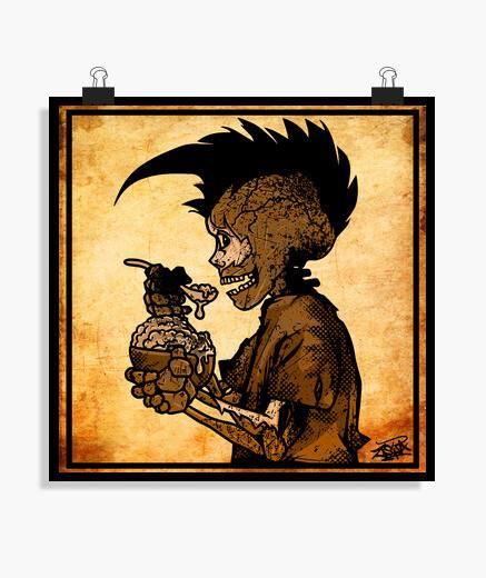 Poster skull bambino zombie punk