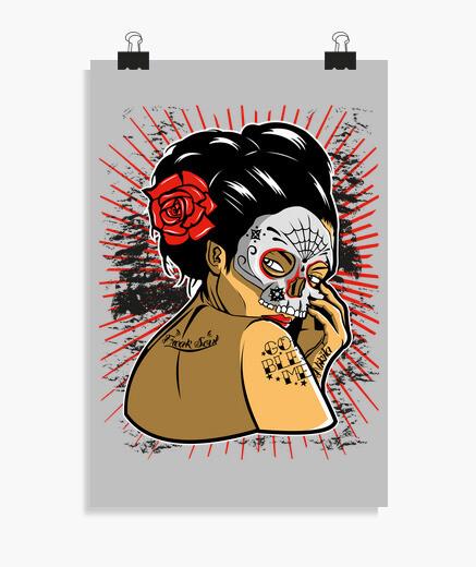 Póster Skull Geisha