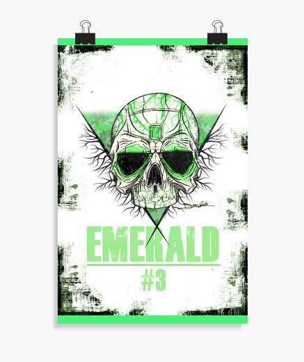 Poster skull smeraldo - post er