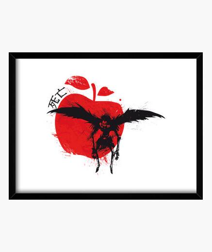 Cuadro sol rojo: manzana