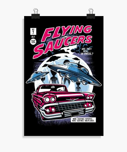 Poster soucoupes volantes