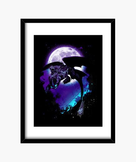 Soul of the nightfury framed print