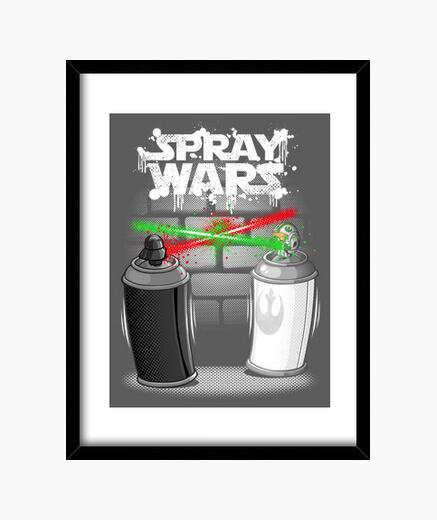Cuadro Spray wars