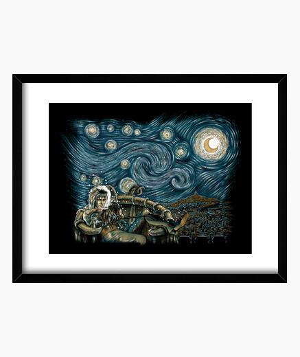 Starry labyrinth framed print