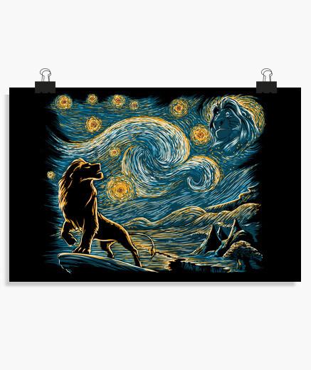 Póster Starry Lion king
