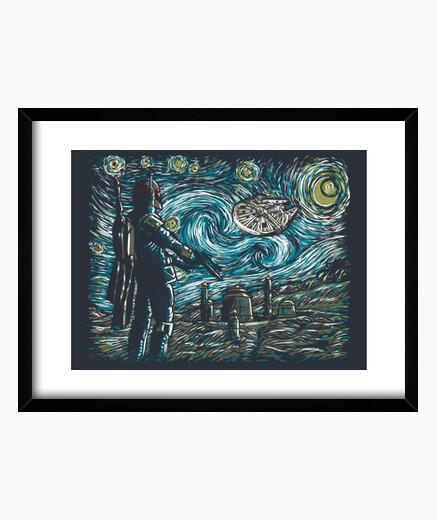 Starry wars framed print