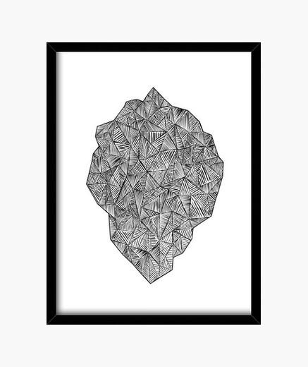Bild stein des gemischten triangles - schwarz