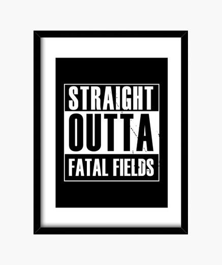 Straight outta fatal fields framed print