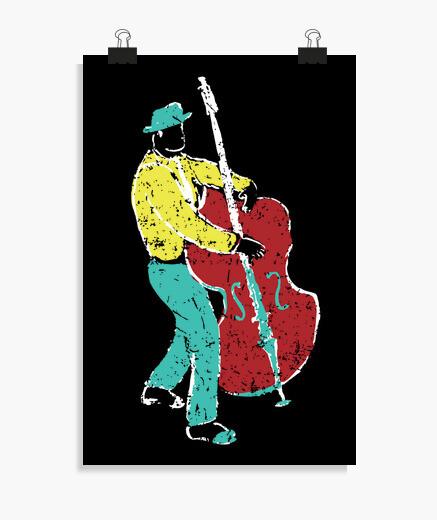 Poster style de musicien de jazz