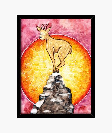 Summer goat framed print