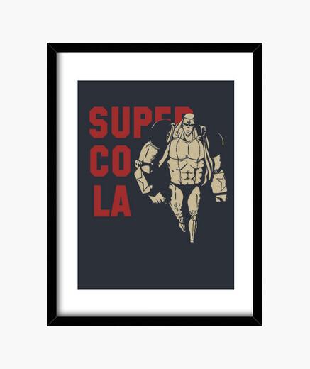 Super glue franky framed print