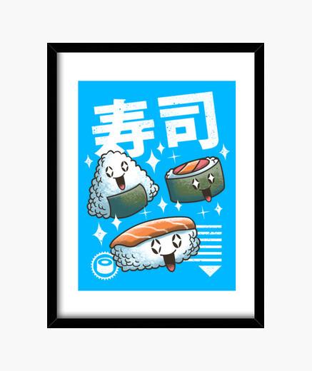 Cuadro sushi kawaii