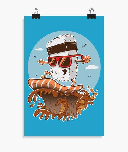 Poster sushi surf er