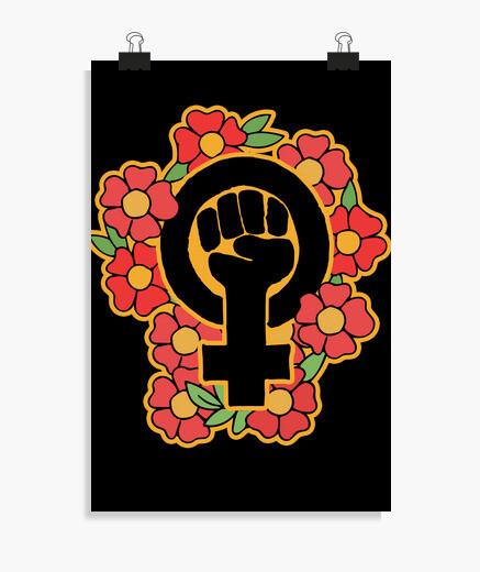 Poster symbole féministe