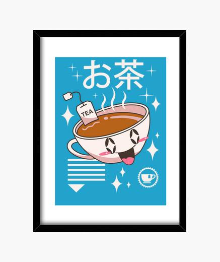 Cuadro té kawaii