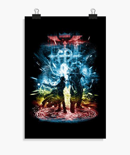 Poster tempesta-arcobaleno fratellanza