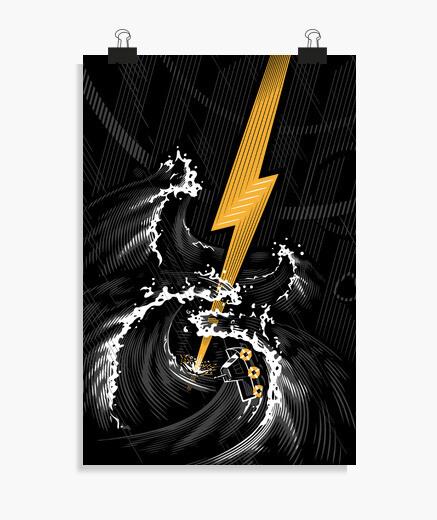Poster tempesta di chitarra elettrica