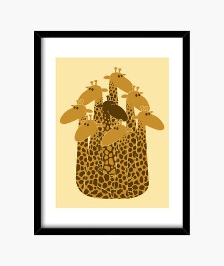 Cuadro The balck giraffe of the family.