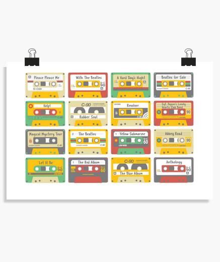 Póster The Beatles cassettes.