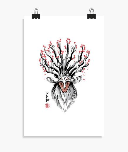 Póster The Deer God sumi-e
