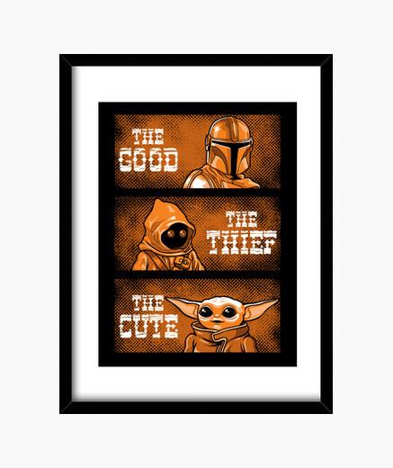 The good the thief the cute framed print
