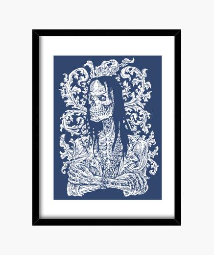 The haunter -white framed print