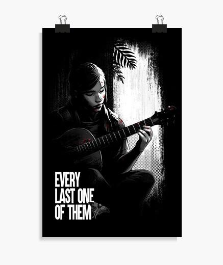 Póster The last of us Ellie guitar poster