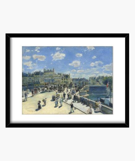 The new bridge (1872) framed print