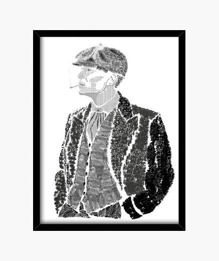 Thomas Shelby Cuadro con marco negro vertical