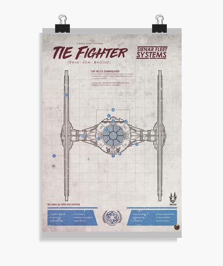 Póster Tie Fighter