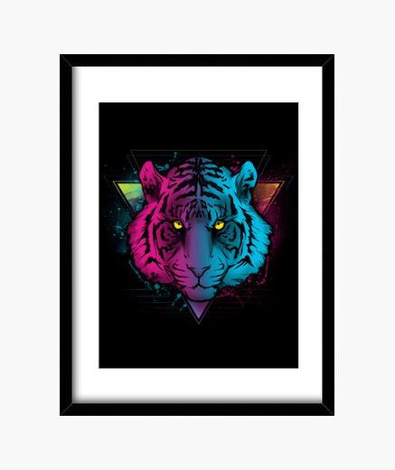 Cadre tigre rétro