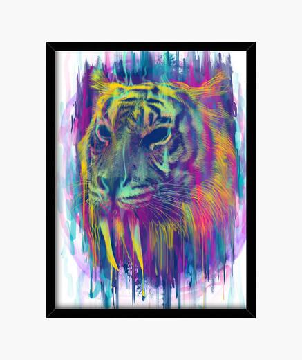 Cuadro tigre sintética