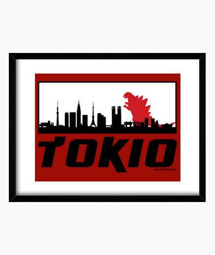 Cuadro Tokiozilla