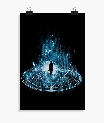 Poster transmutation -bleu