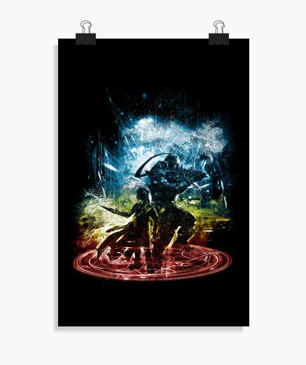 Poster trasmutazione tempesta-arcobaleno versi