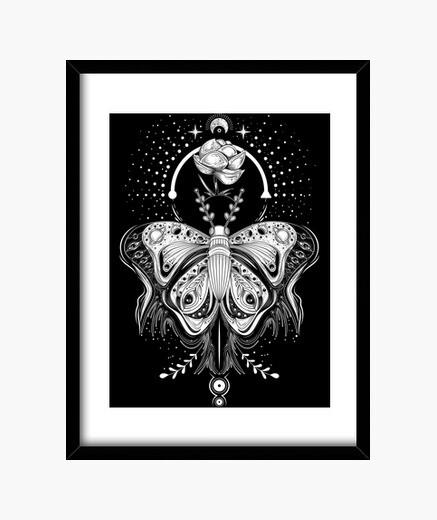 Quadro Tribal farfalla tattooo AJE - dark t-sh