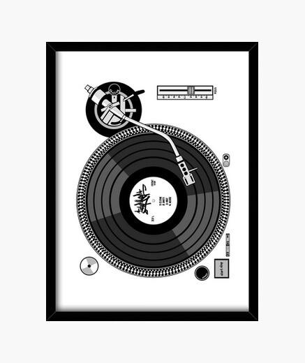 Cuadro Turntable - Plato (Hip Hop)