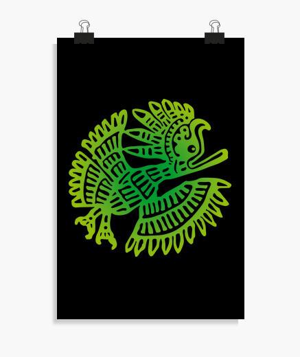 Poster Uccello maya