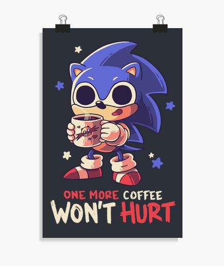 Póster Un Café Más Sonic Erizo